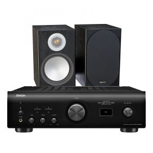 Denon PMA-1600NE Integrated Amplifier with Monitor Audio Silver 100 Bookshelf Speakers