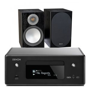 Denon CEOL N11DAB  Hi-Fi-Network CD Receiver with Monitor Audio Silver 100 Speakers