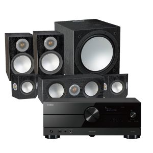 Yamaha RX-A2A AV Receiver with Monitor Audio Silver 100 AV 5.1 Speaker Pack