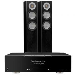 Linn Majik DSM with Monitor Audio Silver 200 Floorstanding Speakers