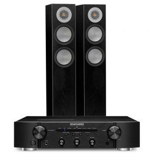Marantz PM6007 Integrated Amplifier with Monitor Audio Silver 200 Floorstanding Speakers