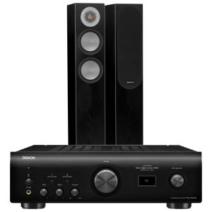 Denon PMA-1600NE Integrated Amplifier with Monitor Audio Silver 200 Floorstanding Speakers