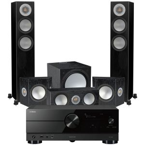 Yamaha RX-A2A AV Receiver with Monitor Audio Silver 200 AV12 5.1 Speaker Pack