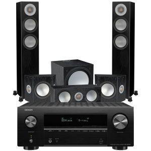Denon AVR-X2700H AV Receiver with Monitor Audio Silver 200 AV12 5.1 Speaker Pack