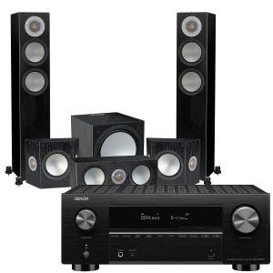 Denon AVC-X3700H Amplifier with Monitor Audio Silver 200 AV12 5.1 Speaker Pack