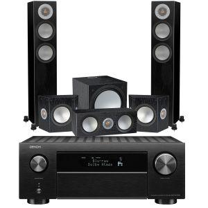 Denon AVC-X4700H AV Amplifier with Monitor Audio Silver 200 AV12 5.1 Speaker Pack