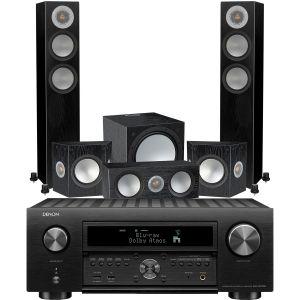 Denon AVC-X6700H 11.2 AV Amplifier with Monitor Audio Silver 200 AV12 5.1 Speaker Pack