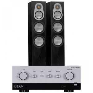 LEAK Stereo 130 Integrated Amplifier with Monitor Audio Silver 300 Floorstanding Speakers