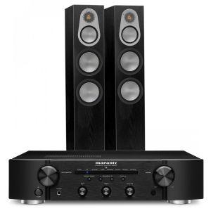 Marantz PM6007 Integrated Amplifier with Monitor Audio Silver 300 Floorstanding Speakers