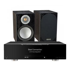 Linn Majik DSM with Monitor Audio Silver 50 Bookshelf Speakers