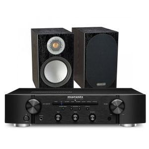 Marantz PM6007 Integrated Amplifier with Monitor Audio Silver 50 Bookshelf Speakers