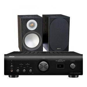 Denon PMA-1600NE Integrated Amplifier with Monitor Audio Silver 50 Bookshelf Speakers
