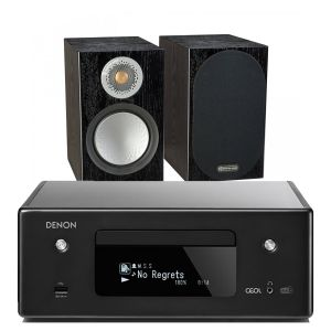 Denon CEOL N11DAB  Hi-Fi-Network CD Receiver with Monitor Audio Silver 50 Speakers