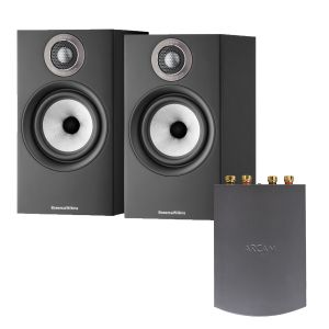 Arcam Solo Uno Streamer with Bowers & Wilkins 606 S2 Standmount Loudspeakers