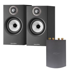 Arcam Solo Uno Streamer with Bowers & Wilkins 607 S2 Standmount Loudspeakers