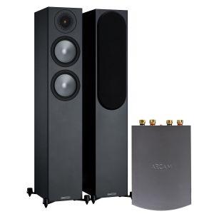 Arcam Solo Uno Streamer with Monitor Audio Bronze 200 Speakers (6th Gen)