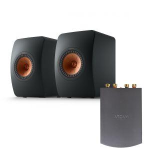 Arcam Solo Uno Streamer with KEF LS50 Meta Standmount Loudspeakers