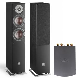 Arcam Solo Uno Streamer with Dali Oberon 5 Floorstanding Speakers
