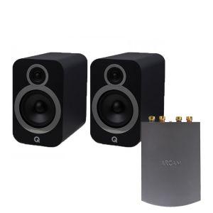 Arcam Solo Uno Streamer with Q Acoustics 3030i Bookshelf Speakers