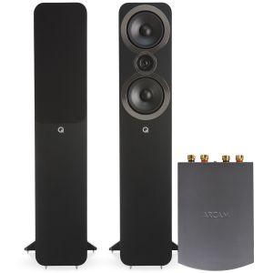 Arcam Solo Uno Streamer with Q Acoustics 3050i Floorstanding Speakers