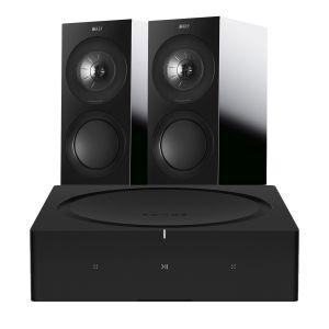 Sonos Amp with KEF R3 Bookshelf Speakers