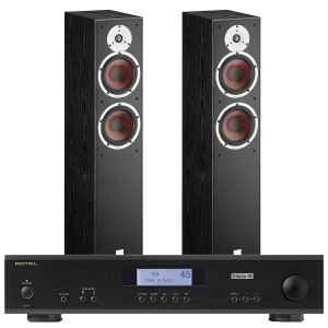 Rotel A11 Tribute Integrated Amplifier with Dali Spektor 6 Floorstanding Speakers
