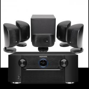 Marantz SR7015 9.2ch 8K AV Amplifier with Bowers & Wilkins MT-50 Home Theatre System