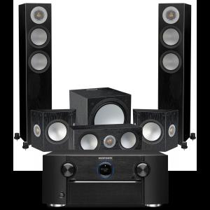 Marantz SR7015 9.2ch 8K AV Amplifier with Monitor Audio Silver 200 AV12 5.1 Speaker Pack