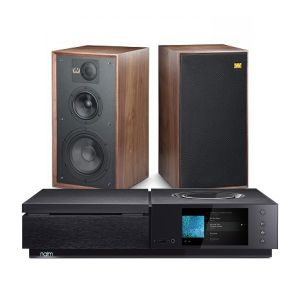 Naim Uniti Star All-In-One Player with Wharfedale Linton Heritage Standmount Speakers
