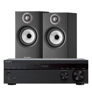 Sony STR-DH190 Stereo Receiver with Bowers & Wilkins 607 S2 Standmount Loudspeakers