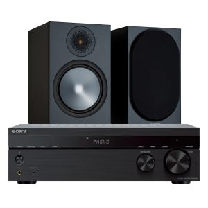 Sony STR-DH190 Stereo Receiver with Monitor Audio Bronze 100 Speakers (6th Gen)