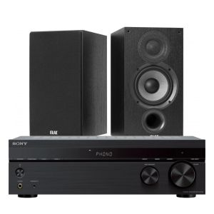 Sony STR-DH190 Stereo Receiver with Elac Debut B5.2 Bookshelf Speakers