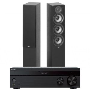 Sony STR-DH190 Stereo Receiver with Elac Debut F5.2 Floorstanding Speakers