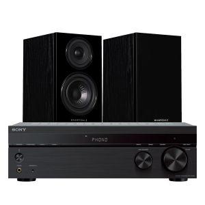 Sony STR-DH190 Stereo Receiver with Wharfedale Diamond 12.0 Bookshelf Speakers