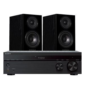 Sony STR-DH190 Stereo Receiver with Wharfedale Diamond 12.1 Bookshelf Speakers