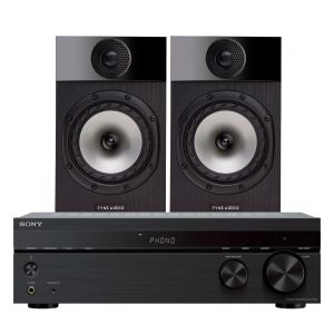 Sony STR-DH190 Stereo Receiver with Fyne Audio F300 Bookshelf Speakers
