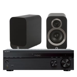 Sony STR-DH190 Stereo Receiver with Q Acoustics Q3010i Bookshelf Speakers