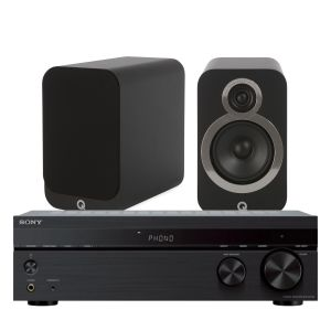 Sony STR-DH190 Stereo Receiver with Q Acoustics 3020i Bookshelf Speakers
