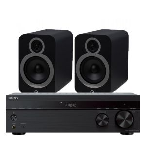 Sony STR-DH190 Stereo Receiver with Q Acoustics 3030i Bookshelf Speakers