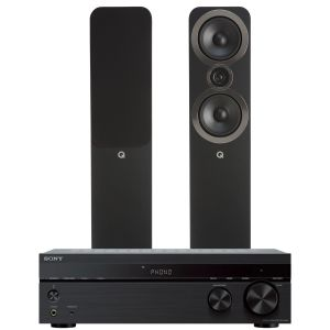 Sony STR-DH190 Stereo Receiver with Q Acoustics 3050i Floorstanding Speakers