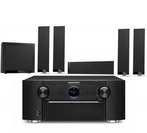 Marantz SR7015 9.2ch 8K AV Amplifier with KEF T305 System 5.1 Speaker Pack