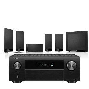 Denon AVC-X4700H AV Amplifier with KEF T105 System 5.1 Speaker Pack