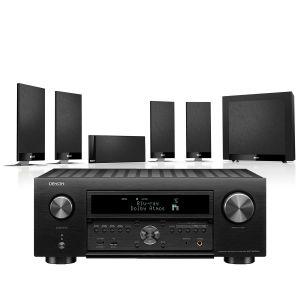 Denon AVC-X6700H 11.2 AV Amplifier with KEF T105 System 5.1 Speaker Pack