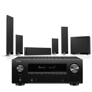 Denon AVR-X2700H AV Receiver with KEF T205 System 5.1 Speaker Pack