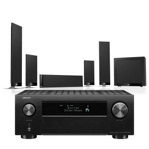 Denon AVC-X4700H AV Amplifier with KEF T205 System 5.1 Speaker Pack