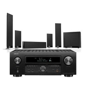 Denon AVC-X6700H 11.2 AV Amplifier with KEF T205 System 5.1 Speaker Pack