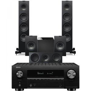 Denon AVC-X3700H Amplifier with KEF Q550 AV Speaker Pack