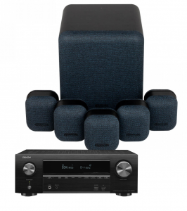 Denon AVR-X1600H AV Receiver with Monitor Audio Mass 5.1 Gen 2 AV Speaker System